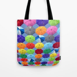 Myriads of Umbrellas Tote Bag