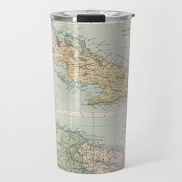 Vintage Map of Cuba and Jamaica (1892)  Travel Mug