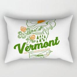 Vintage Vermont Nature Line Art Rectangular Pillow