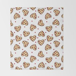 Pizza hearts cute love gifts foodie valentines day slices Throw Blanket