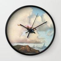 fall Wall Clocks featuring Fall by Sarah Eisenlohr