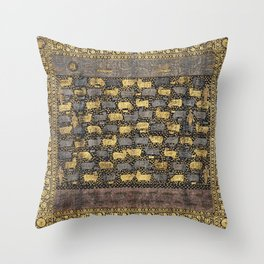 Pichhwai for the Festival of Cows in the late 18th century. Throw Pillow