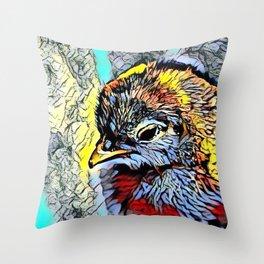 Color Kick - Chick Throw Pillow