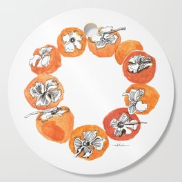 Persimmon Wreath Cutting Board