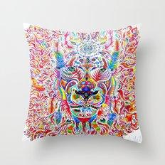 Mystic Lion Throw Pillow