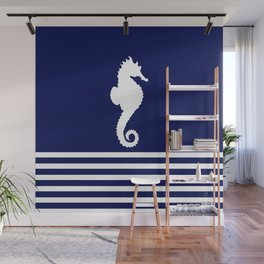 AFE Navy & White Seahorse Wall Mural