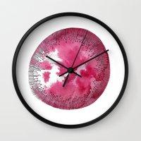 fruit Wall Clocks featuring Fruit by Hedda Hultman