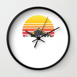 Mount Katahdin Maine Sunset Hiking Wall Clock