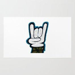Graffiti hand signal Rug