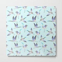 Light blue crane pattern Metal Print