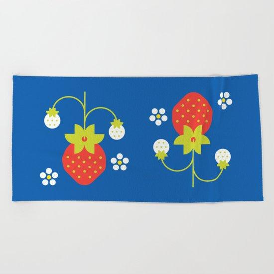 Fruit: Strawberry Beach Towel