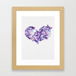 Dragonfly Heart - Ultraviolet Purple Framed Art Print
