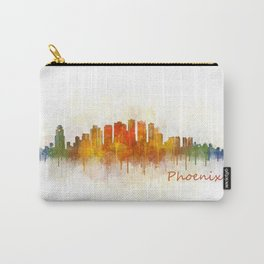 Phoenix Arizona, City Skyline Cityscape Hq v3 Carry-All Pouch