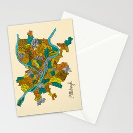 Pittsburgh Neighborhoods Stationery Cards