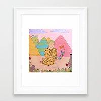 jaguar Framed Art Prints featuring Jaguar by Édgar MT