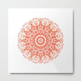 Mandala 12 / 2 eden spirit orange Metal Print