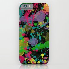 Paint Splatter on Black Background iPhone 6s Slim Case