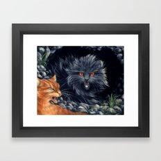 Yellowfang and Firepaw Framed Art Print