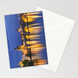The Charles Bridge in Prague, Czech Republic at night Stationery Cards