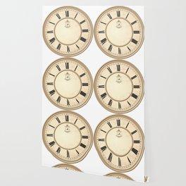 Classy Vintage Birdcage Decorative Clock Wallpaper