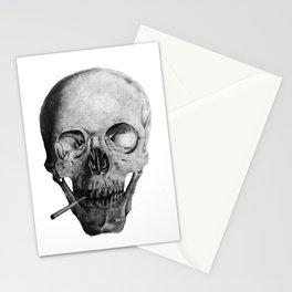 Smoking Skull Stationery Cards