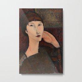 Amedeo Modigliani - Adrienne (Woman with Bangs) Metal Print