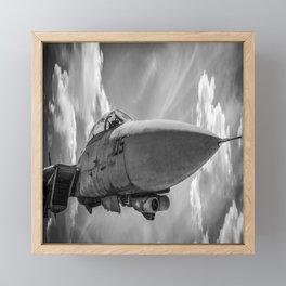 Jet Fighter Military Aircraft Flight Pilot Airplane Print Framed Mini Art Print
