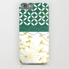 Boho dandelion green and yellow Slim Case iPhone 6s