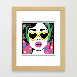 Heart Eyes 2 Framed Art Print