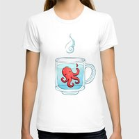 tea T-shirts featuring Octopus Tea by Freeminds
