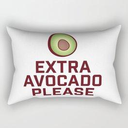 Extra Avocado Please Rectangular Pillow