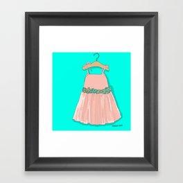 Pink Doll Dress Framed Art Print