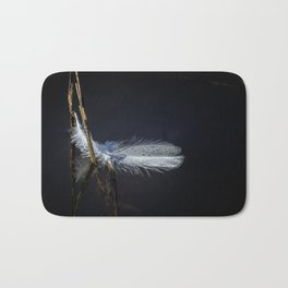 Feather on Water Bath Mat