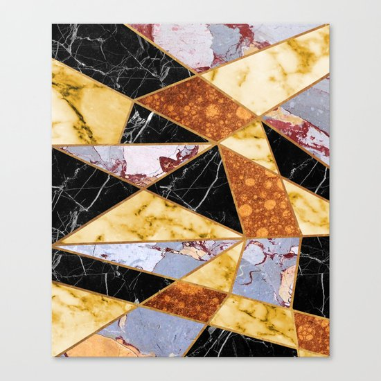 Abstract #458 Molten Metal & Marble Canvas Print