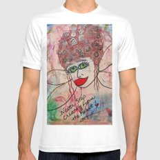 Fairy Art Mother Mens Fitted Tee MEDIUM White