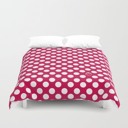 red polka dots Duvet Cover