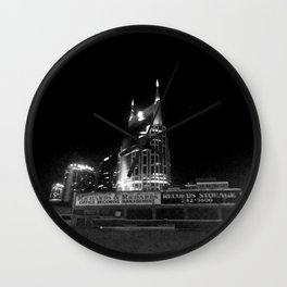 Nashville Nights - sky scraper  Wall Clock