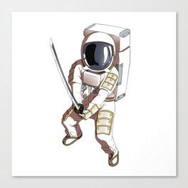 Space Samurai Astronaut Fighter Sword Kendo Canvas Print