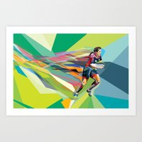 Color Motion Rugby Art Print