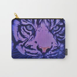 Rainbow Eye of The Tiger : Blue Topaz Carry-All Pouch