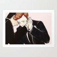 klaine Art Prints featuring klaine wedding dance by suitfer