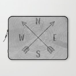Compass Black and White Tree Laptop Sleeve