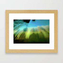 Abstract Victoria Park Costa Mesa CA Framed Art Print