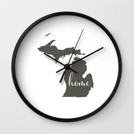 Michigan is Home Wall Clock