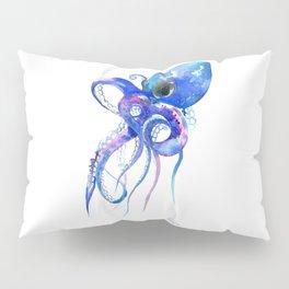Octopus, blue purple marine colors beach house octopus artwork Pillow Sham