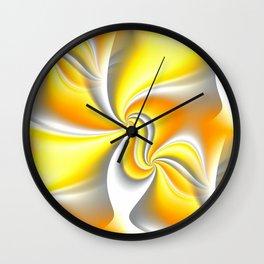Turn Around (yellow) Wall Clock