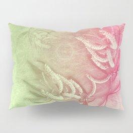 Pink and green wattle and kaleidoscope Pillow Sham