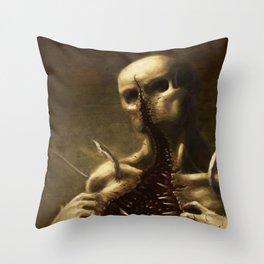 Mouthface Throw Pillow