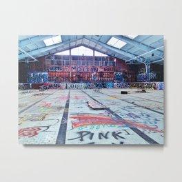 Abandoned Pool Metal Print