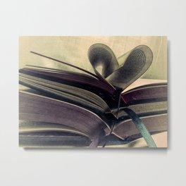 Book Still Life Library Art Heart Modern Cottage Country Art A429 Metal Print